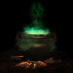 Cauldron with green brew image
